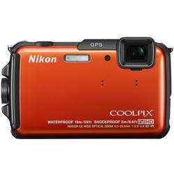 Nikon Aparat foto digital Coolpix AW110, 16MP, GPS, Orange VNA313E1