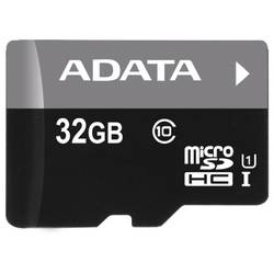 ADATA MicroSDHC Ultra-High Speed | 32GB | Random Read/Write: 1400 /100 (IOPs) AUSDH32GUICL10-RA1