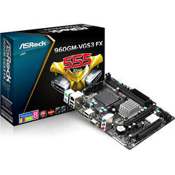 ASROCK Placa de baza, socket AM3+ 960GM-VGS3 FX