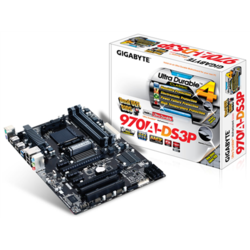 GIGABYTE Placa de baza AMD970, socket AM3+