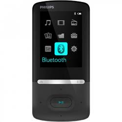 Philips MP4 Player SA5AZU04KF, 4 GB, FM, Bluetooth, negru