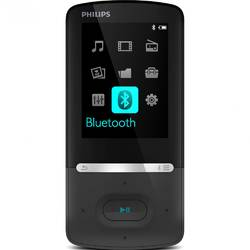 MP4 Player Philips SA5AZU08KF, 8GB, FM, Bluetooth, Negru