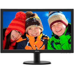 "Monitor LED Philips 243V5LSB/00 23.6"" 5ms black"