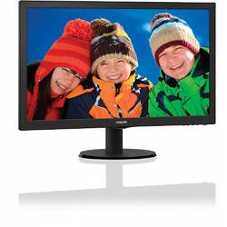 "Monitor LED Philips 23.6"", Wide, Full HD, HDMI, DVI, Boxe, Negru, 243V5LHAB"