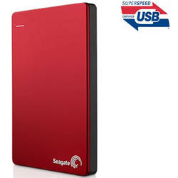"HDD EXTERN 1TB SEAGATE 2.5"" BACKUP PLUS USB 3.0 METALIC RED"