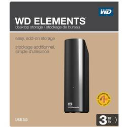HDD Extern Western Digital Elements Desktop 3TB, USB3.0