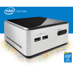 Mini Sistem PC Intel NUC (Next Unit of Computing) BOXD54250WYKH2, Core i5-4250U 1.3GHz, 2x DDR3 16GB max, HDD 2.5 inch, mini HDMI, mini DisplayPort