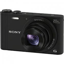 Aparat foto digital Sony DSCWX350B, 18 MP, Wi-Fi, Black