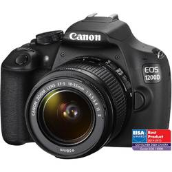 Aparate foto D-SLR Canon EOS 1200D 18MP, Kit Body + obiectiv EF-S 18-55 IS II, Black, AC9127B005AA