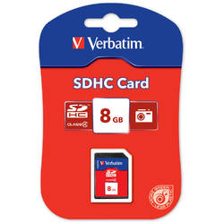 VERBATIM SECURE DIGITAL CARD HIGH CAPACITY (SDHC) 8GB CLASS 4