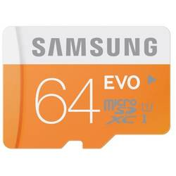 Samsung MICRO SDXC 64GB EVO CLASS10, UHS-1, UP TO 48MB/S W/O ADAPTER