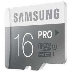 Samsung MICRO SDHC 16GB PRO CLASS10, UHS-1, READ 90MB/S - WRITE 50MB/S WITH ADAPTER