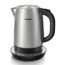 Fierbator cordless Philips HD9326/20, 2200 W, 1.7 l, Negru/Inox