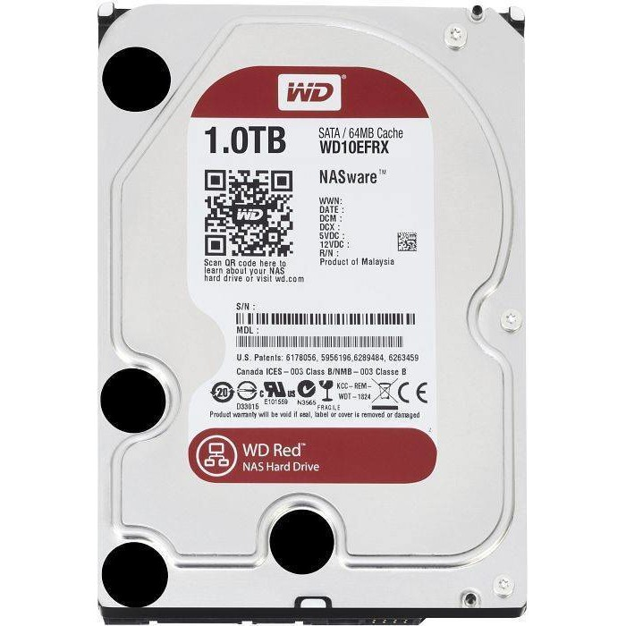 HDD 1TB RED, Serial ATA3, IntelliPower WD10EFRX