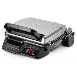 Tefal Gratar electric Gourmet Grill Classic GC305012, 2000 W, placi detasabile, indicator luminos, negru/argintiu