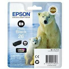 Epson Singlepack Photo Black 26 Claria Premium Ink 4,7ml