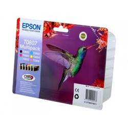 Epson Multipack 6-colours T0807 Claria Photographic Ink CMYK-LC-LM 6x7,4ml