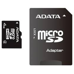 A-Data Card de memorie microSDHC 4 GB Class4 cu adaptor SD - 99 ani AUSDH4GCL4-RA1