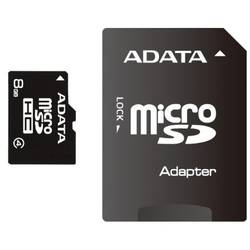 A-Data Card de memorie microSDHC 8 GB Class4 cu adaptor SD - 99 ani AUSDH8GCL4-RA1