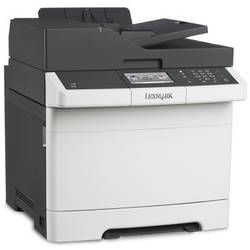 Multifunctional laser color, A4, Lexmark CX410e Ecran tactil 10.9 cm, Retea, USB, 75000 pag/luna CX410e