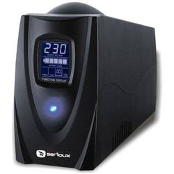 SERIOUX UPS ProtectIT 850LS, 850VA, 12min back-up (half load), LCD screen, black SRXU-850LS