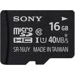 Sony Card de memorie Micro-SDHC 16GB, Class 10 + Adaptor SD SR16UYA