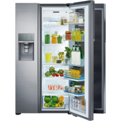 Samsung Side by Side Full No Frost RH57H90507F, Food SwowCase, 570 l, Clasa A+, H 177 cm, Inox