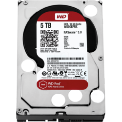 Western Digital HDD Desktop WD Red, 3.5'', 5TB, 64MB
