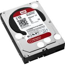 "Western Digital HDD Desktop Red Pro, 3.5"", 3TB, 64MB, 7200 RPM"