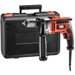 Black&Decker Masina de gaurit cu percutie KR805K, 800 W, 3100 RPM, 13 mm