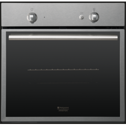 Hotpoint Ariston Cuptor gaz, aprindere electrica, rotisor, grill electric, timer FK G X/HA S