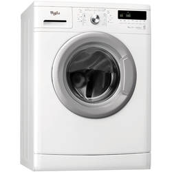 Whirlpool Masina de spalat Slim AWSX 63013, 1000 rpm, 6 kg, afisaj LED, Clean +, 6th Sense Colours, clasa A+++, alb
