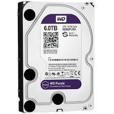 Western Digital HDD 6TB 64MB InteliPower SATA3,Purple Surveillance