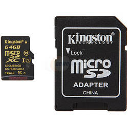 KINGSTON Micro SD Card, 64GB, Clasa 10