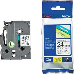 Brother TZE251 Tape 24mm Black/White Ribbon Cartridge