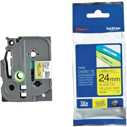 Brother TZE651 Tape 24mm Black/Yellow Ribbon Cartridge