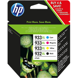 HP Cartus 932XL Black/933XL Cyan/Magenta/Yellow 4 Pack