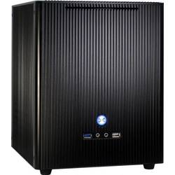 Inter-Tech Carcasa E-M5 Black, Aluminium microATX/Mini-ITX