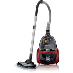 Philips Aspirator fara sac PowerPro Active FC9521/09, 1.6 l, Tub telescopic metalic, 750 W, EPA 10, Negru/Rosu