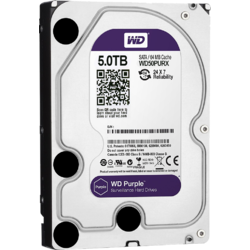 "Western Digital HDD intern 3.5"", 5TB, Purple, SATA3, 64MB, Surveillance"