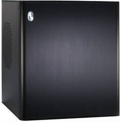 Inter-Tech Carcasa E-D3 Black, Aluminium Mini-ITX Case, fara sursa