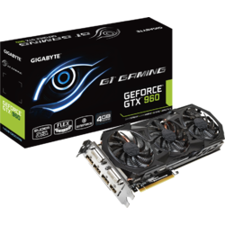 GIGABYTE Placa video GTX960, 4096MB GDDR5, 128 bit