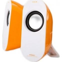 E-BLUE Boxe PC Pioneer-Y Orange, putere: 2.5W x 2 RMS, USB