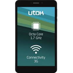 "Tableta UTOk Hello 7K cu procesor Octa-Core MTK8392 1.7 GHz, 7"", IPS, 1GB RAM, 8GB, Wi-Fi, 3G, GPS,Bluetooth, Android 4.4 KitKat, Black"