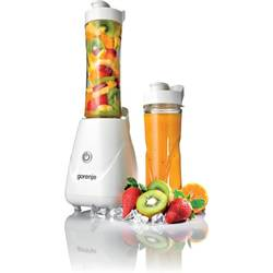 Gorenje Blender smoothie maker, 250W, functie Pulse, sistem blocare, lama QuadroBlade, alb