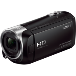 Camera Video Sony HDR-CX405 Black, senzor CMOS Exmor R, lentile superangulare Carl Zeiss Vario-Tessar, stabilizare optica SteadyShota, zoom 30x/350x, ecran 2.7""