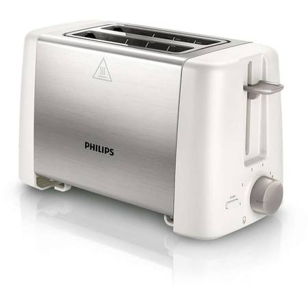 Philips Prajitor de paine Daily Collection HD4825/00 , 800 W, 2 felii, alb/inox