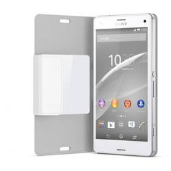 Husa Sony EcoLeather Style Book SCR26 White Smart Window pentru Sony Xperia Z3 Compact