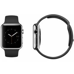 SmartWatch Apple Watch 38 mm Stainless Steel, Black Sport Band