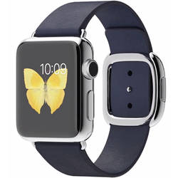 SmartWatch Apple Watch Stainless Steel Case, Small Midnight Blue Modern Band 38 mm MJ332LL